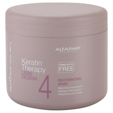 ALFAPARF Lisse Desing Keratin Therapy Rehydrating Mask Регедрирующая маска